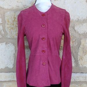 Eileen Fisher Pink Suede Jacket